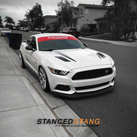Stanced Stang Old Logo Sun Banner,  - Riddle Wares