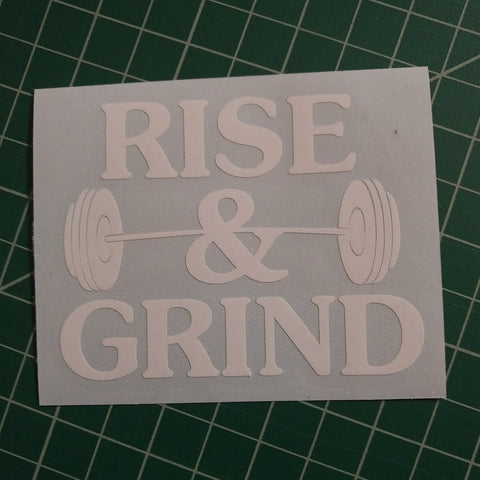 Rise & Grind | Premium Decal,  - Riddle Wares