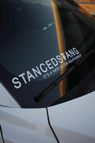 Stanced Stang Old Logo Banner,  - Riddle Wares