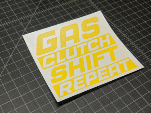Gas Clutch Shift Repeat Decal,  - Riddle Wares
