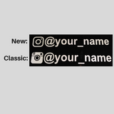 Personalized Instagram Decal,  - Riddle Wares