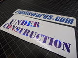 Under Construction Decal,  - Riddle Wares