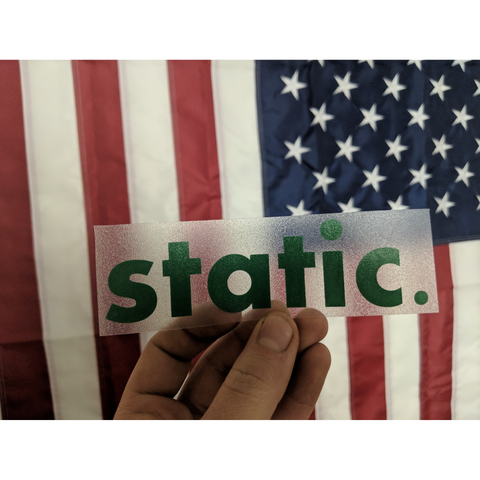 static. | Premium Decal,  - Riddle Wares