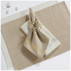Linen and Gold Napkin- Set of 4