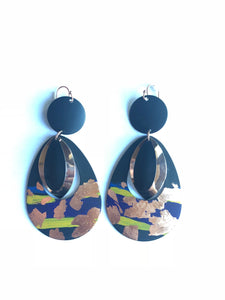 Tear Drop Painted Earrings