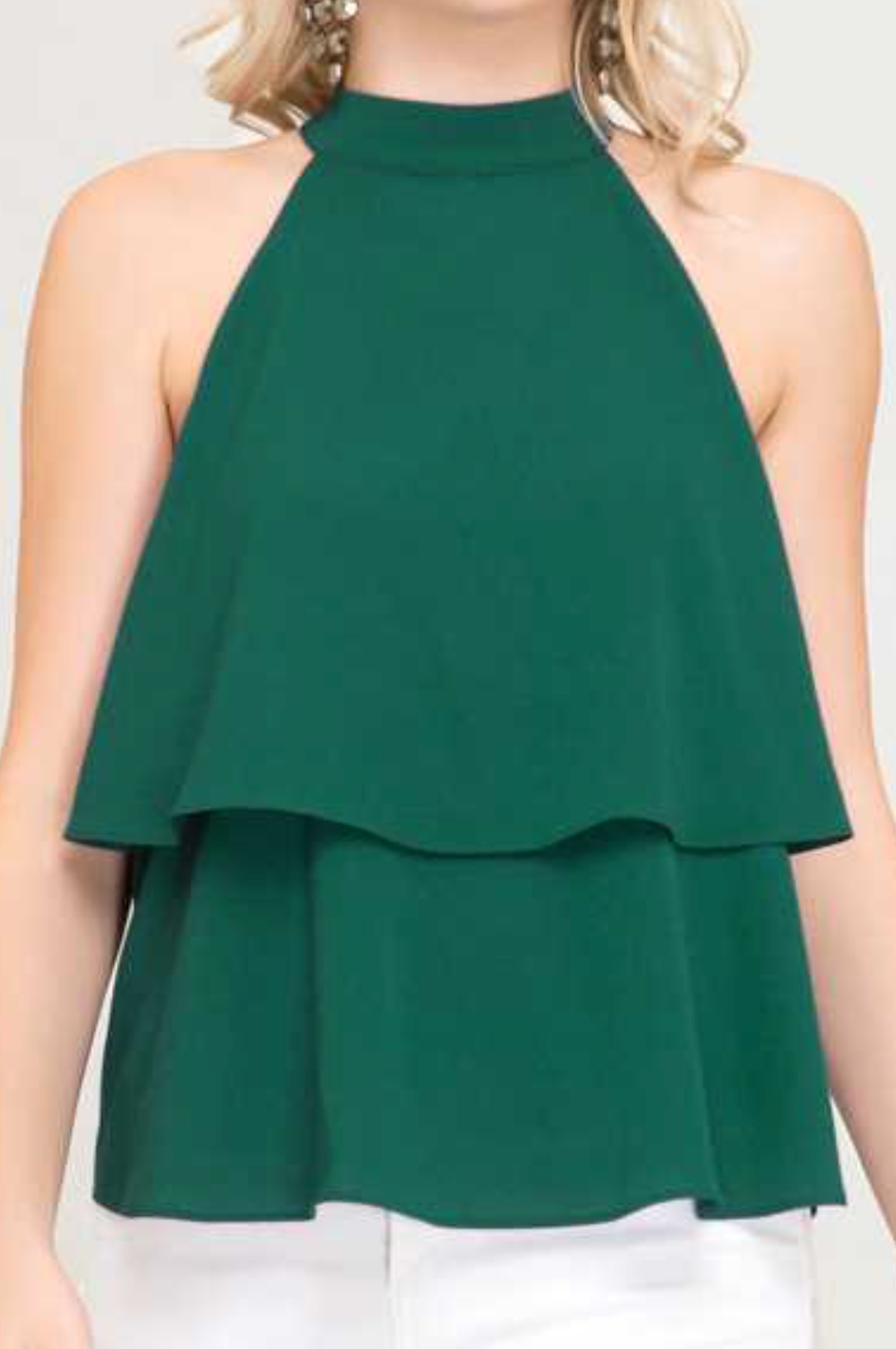 Green Holiday Top