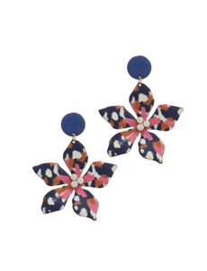 Colorful Lily Earrings
