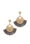 Pewter & Gold Tassel Earrings