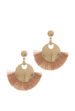 Champagne & Gold Tassel Earrings
