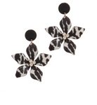 Black & White Lily Earrings