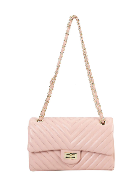 Light Pink Quilted Crossbody