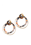 Orange and Blue Acetate Linked Hoops