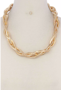 Gold Braided Necklace