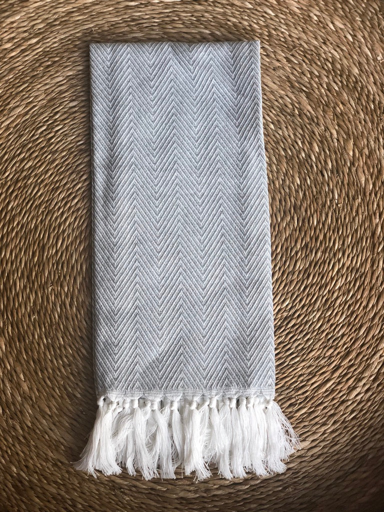 Knitted Cotton Tassel Hand Towel