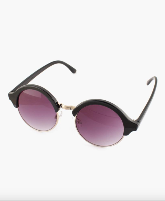 Retro Fashion Sunglasses - Black