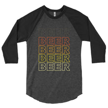 Load image into Gallery viewer, BEER Stacked in Retro Colors - Beer Nerd Shirts