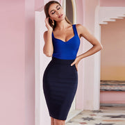 Women's sexy Blue and Black Party Bodycon bandage dress