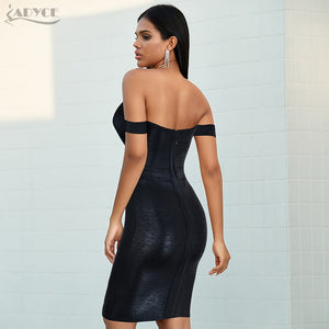 Silver and Black Off Shoulder Sexy Mesh Strapless Backless Club Party Dress