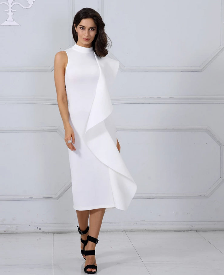 White Celebrity Party Dress