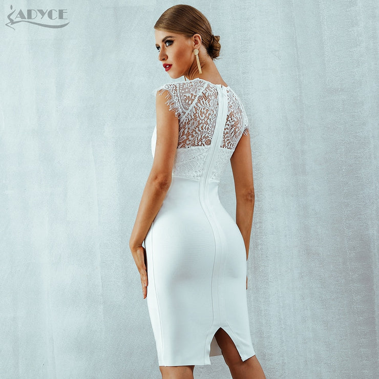 White lace Bandage Dress