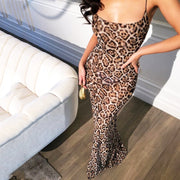Sexy Floor length Leopard Party Dress