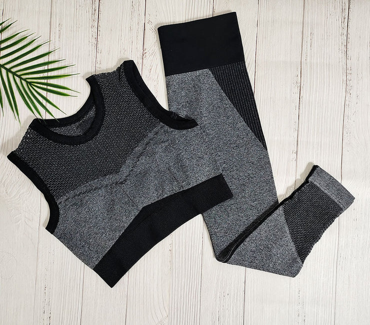 Sexy Seamless Yoga Fitness Sports Mesh Gym Workout Gear