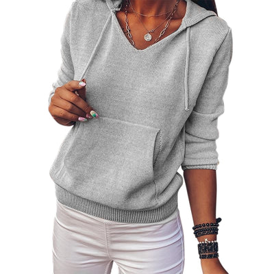 Soft Knitted Pullover Long Sleeve Sweaters