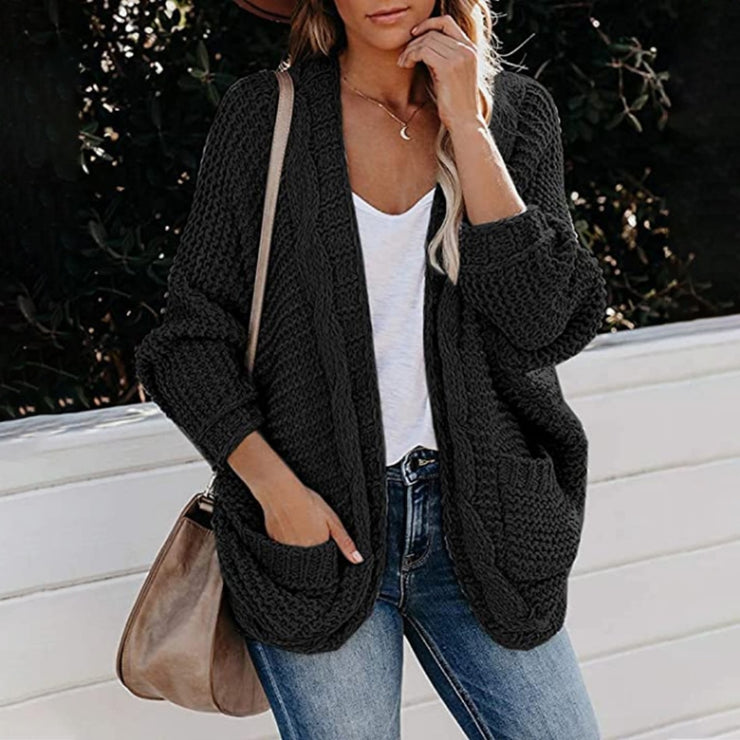 Women's Vintage Soft cotton Cardigan Sweater For Fall and Winter