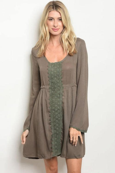 Boho Long sleeve Cami dress