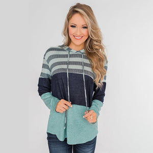 Hoodies stripe Patchwork Black , Camo, Halloween and more Women long sleeves