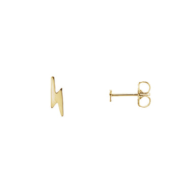 Solid 14K Gold Bolt Studs