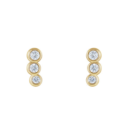 Solid Gold & Diamond Constellation Ear Climbers