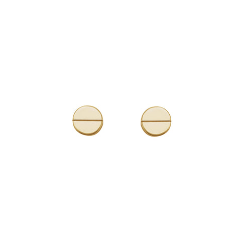 Solid 14K Gold Geometric Studs