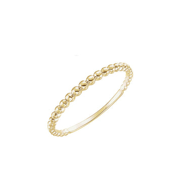 Solid 14K Gold Bead Ring