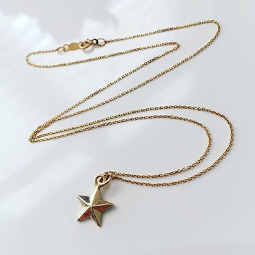Solid Gold Little Star Necklace