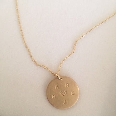 Customisable Disc Necklace on plain chain