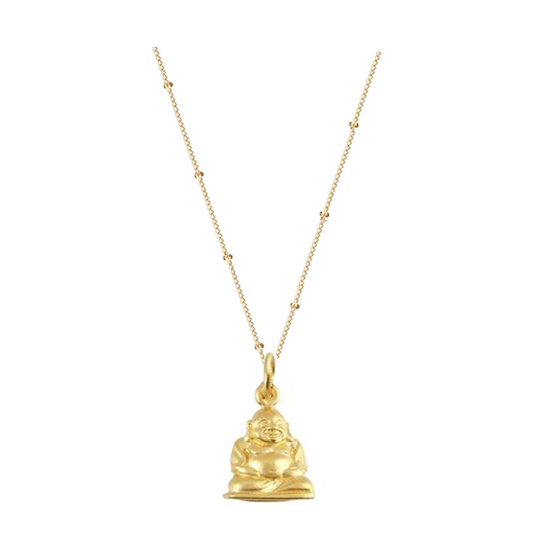 Gold Happy Buddha Necklace
