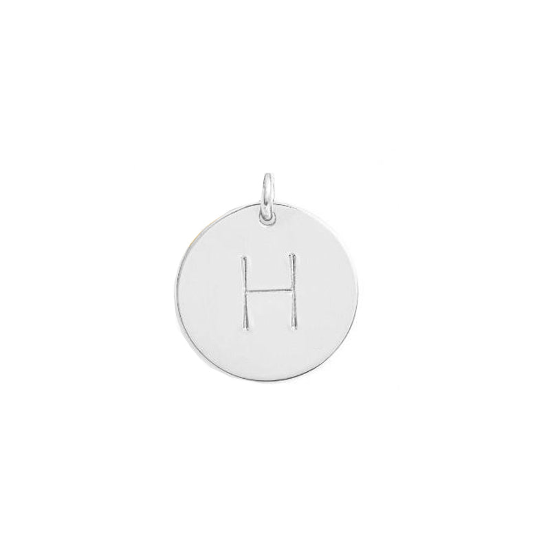 Sterling silver Initial disc