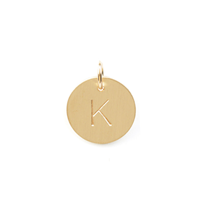 Gold Initial Disc