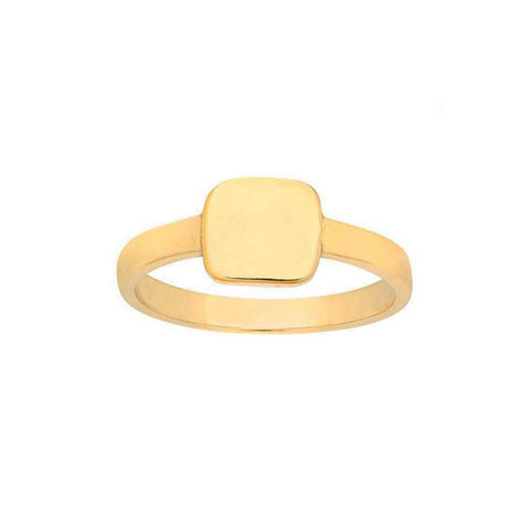 Solid 14K Gold Customisable Lucky Ring