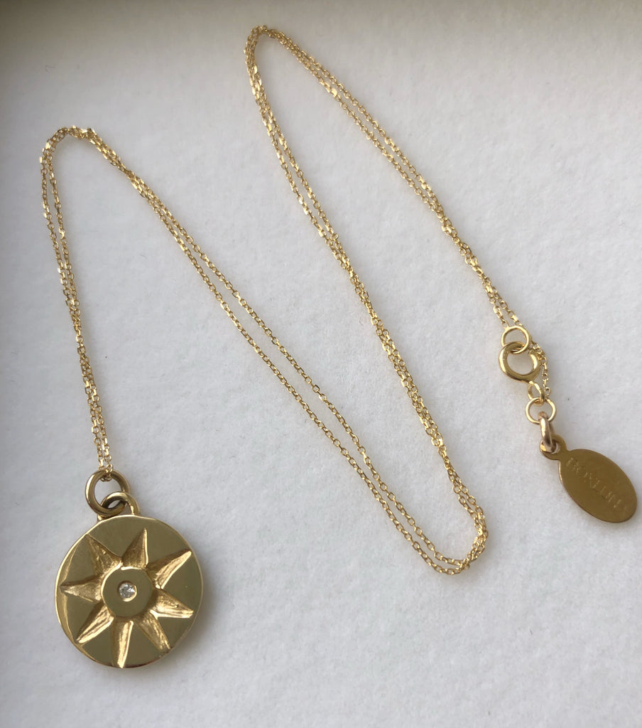 Solid Gold & Diamond Sunshine Necklace