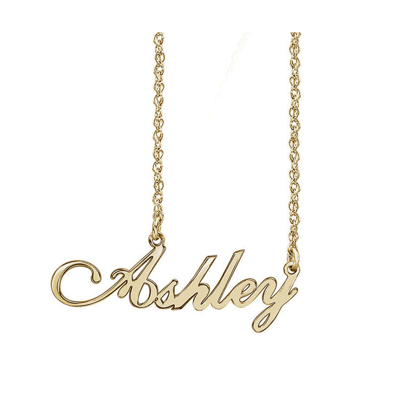 Solid 14K Gold Custom Name Necklace