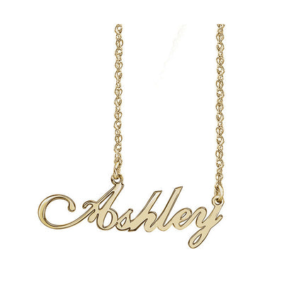 Solid Gold Custom Name Necklace