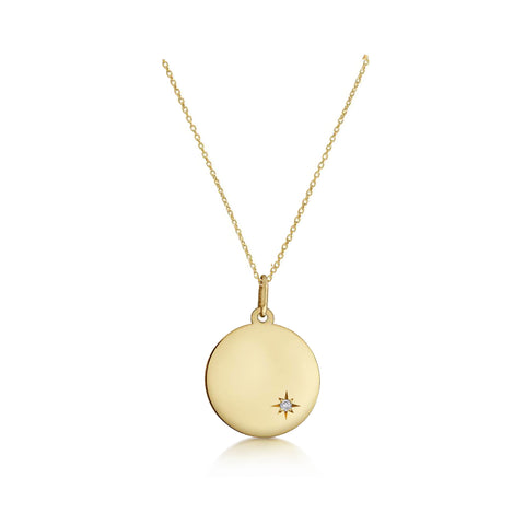 Solid Gold Customisable Star Set Necklace