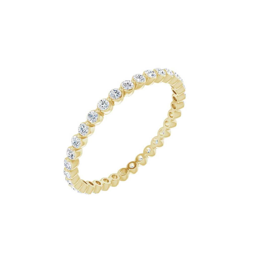 Solid Gold and Diamond Eternity Ring