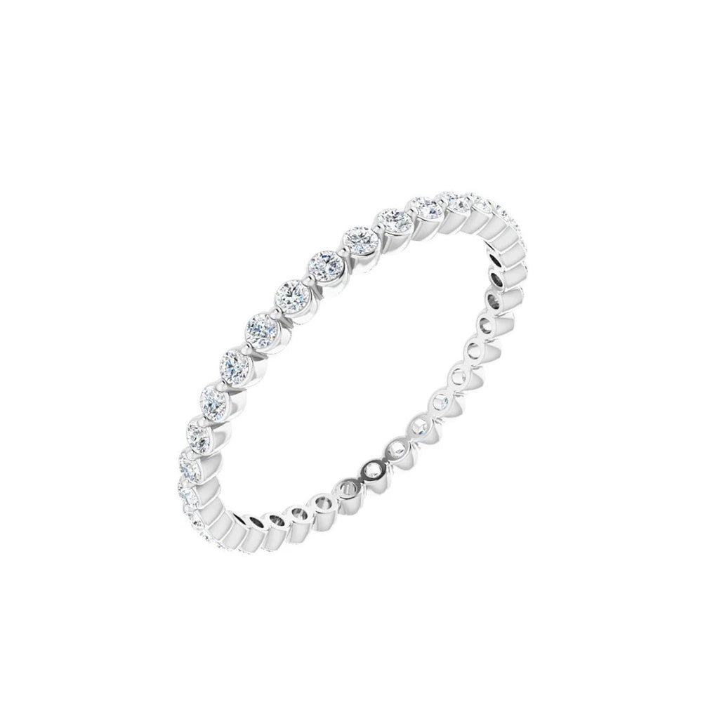 Solid White Gold and Diamond Eternity Ring