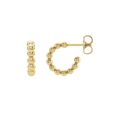 Solid Gold Bali Hoop Earrings