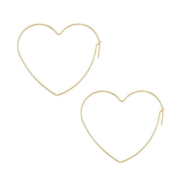 Delicate Gold Filled Heart Hoop Earrings