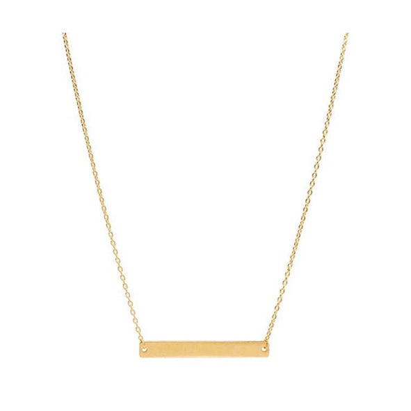 14k Gold Bar Necklace