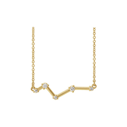 Solid Gold and Diamond Constellation Necklace